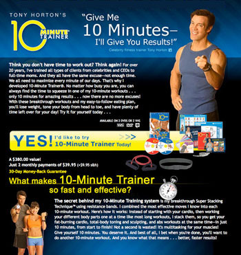 10 Minute Trainer Program